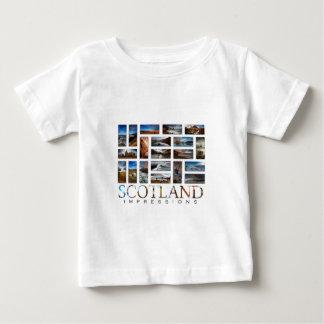 Impresiones de Escocia Camiseta De Bebé