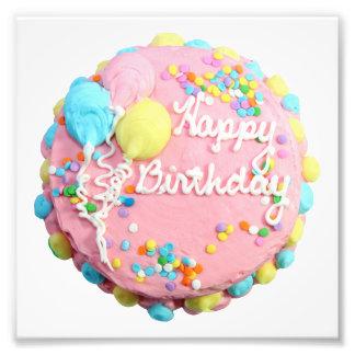 Impresiones de la foto de la torta del feliz cumpl