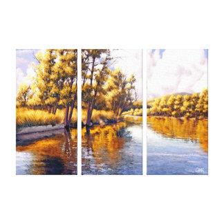 Impresiones de la lona de pintura del paisaje del
