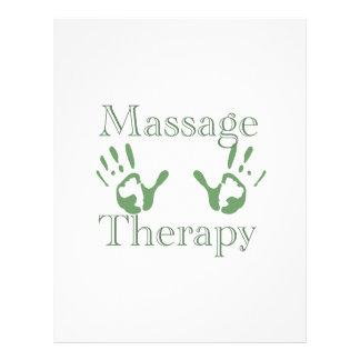 Impresiones de la mano de la terapia del masaje tarjeta publicitaria