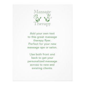 Impresiones de la mano de la terapia del masaje tarjetas informativas