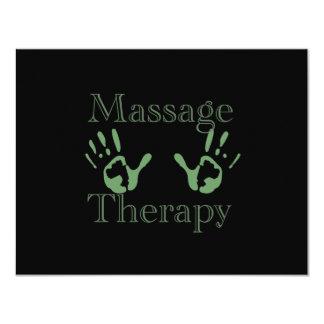 Impresiones de la mano de la terapia del masaje invitación personalizada