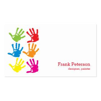 Impresiones de la mano - diseñador, pintor tarjetas de visita