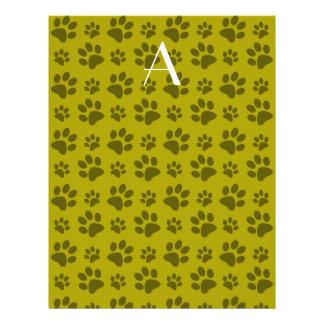Impresiones de la pata del perro amarillo de la folleto 21,6 x 28 cm