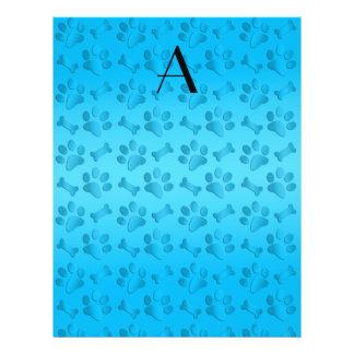 Impresiones de la pata del perro del azul de cielo folleto 21,6 x 28 cm