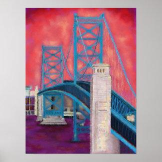 Impresiones de Philly (puente de Ben Franklin en