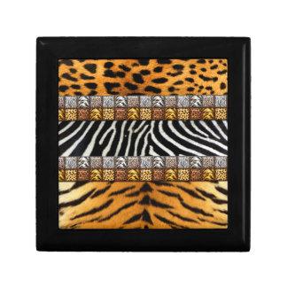 Impresiones del safari caja de joyas