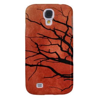 Impresiones fantasmagóricas de Halloween del árbol Funda Para Samsung Galaxy S4