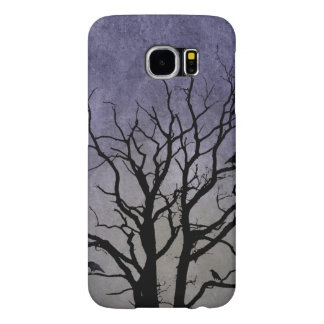 Impresiones fantasmagóricas de Halloween del árbol Funda Samsung Galaxy S6