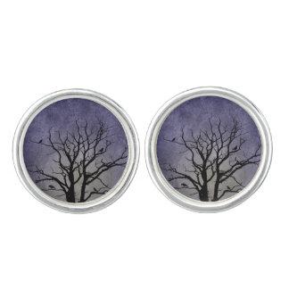 Impresiones fantasmagóricas de Halloween del árbol Gemelos