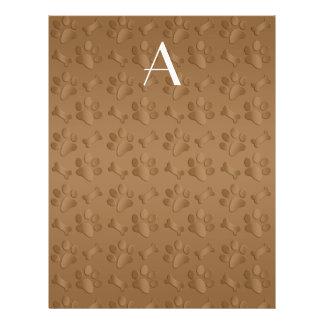 Impresiones marrones de la pata del perro del mono tarjetas publicitarias