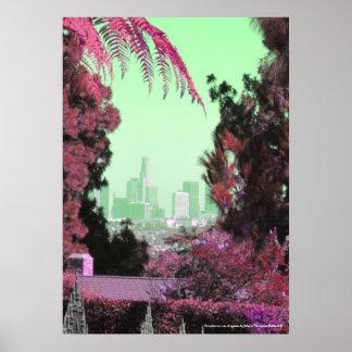 Impresiones retras del poster de Los Ángeles de la