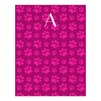 Impresiones rosadas magentas de la pata del perro tarjeton