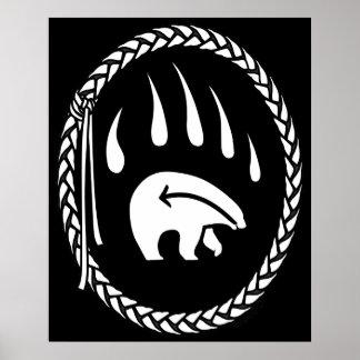 Impresiones tribales del poster de la fauna de la