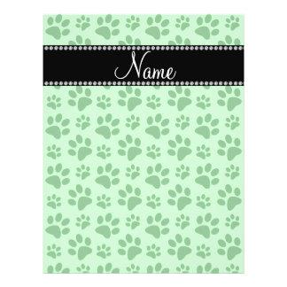Impresiones verdes claras conocidas personalizadas folleto 21,6 x 28 cm