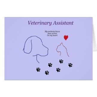Impresiones veterinarias de la Ayudante-Pata en mi Tarjeta De Felicitación