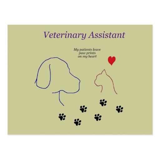 Impresiones veterinarias de la Ayudante-Pata en mi Postal