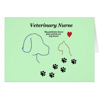 Impresiones veterinarias de la Enfermera-Pata en Tarjeta De Felicitación