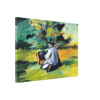 Impresionismo del vintage, pintor en el trabajo impresiones de lienzo