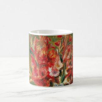 Impresionismo, flores y fruta del vintage por taza clásica