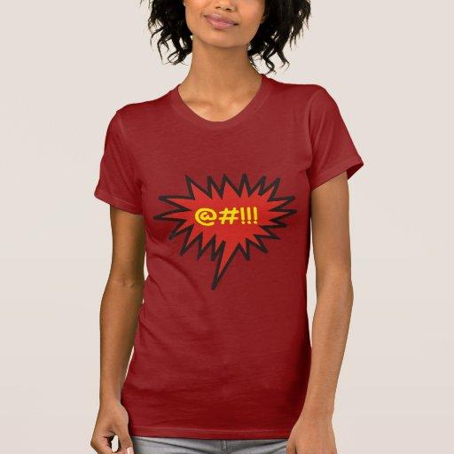 Improperios enojados cómicos de la burbuja de la c camiseta