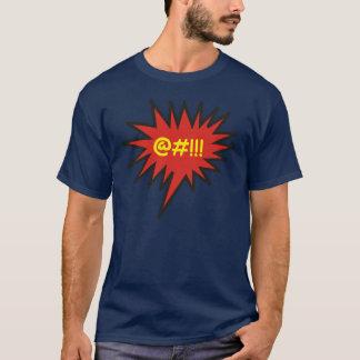 Improperios enojados cómicos de la burbuja de la camiseta