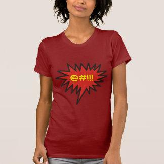 Improperios enojados cómicos de la burbuja de la camisetas