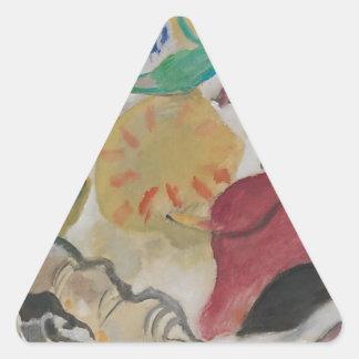 Improvisación 27 pegatina triangular