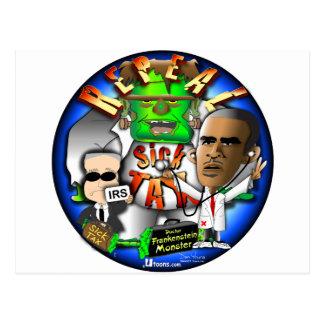 Impuesto del enfermo de Obama Tarjeta Postal