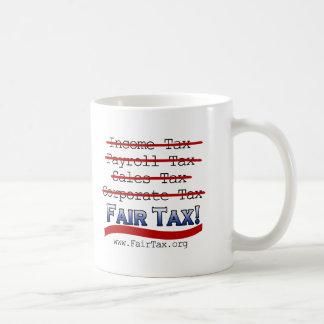 Impuesto justo taza de café