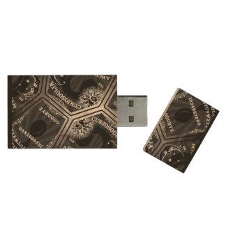 Impulsión del pulgar de Curiosouija Memoria USB De Madera