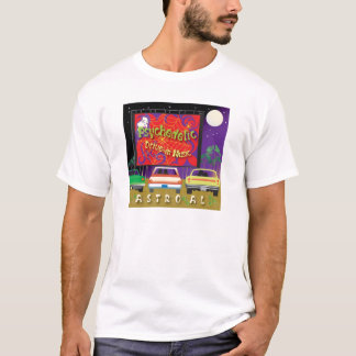 Impulsión psicodélica en música camiseta