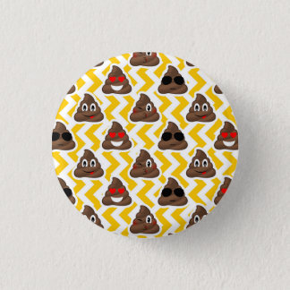 Impulso amarillo Emojis del zigzag Chapa Redonda De 2,5 Cm