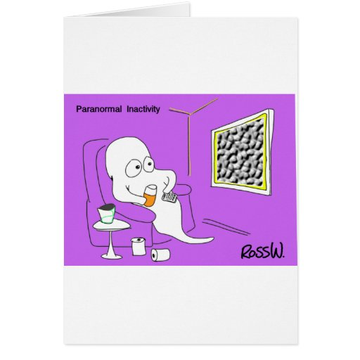 Inactividad paranormal tarjeta de felicitación