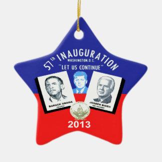 Inaugual 2013 adorno navideño de cerámica en forma de estrella