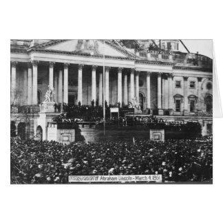 Inauguración Abraham Lincoln del 4 de marzo de 186 Tarjeta