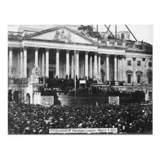 Inauguración Abraham Lincoln del 4 de marzo de Postal