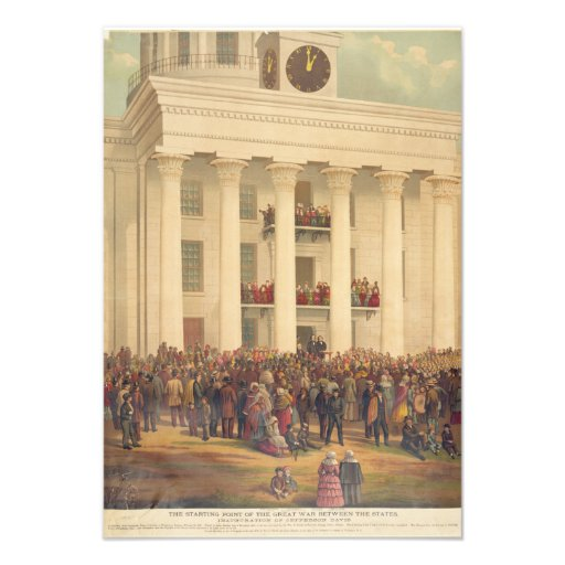 Inauguración de la guerra civil americana de Jeffe Anuncio