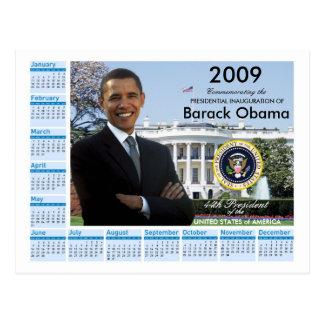 Inauguración de Obama - calendario 2009 del Postal