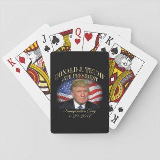 Inauguración de presidente Donald Trump Baraja De Cartas