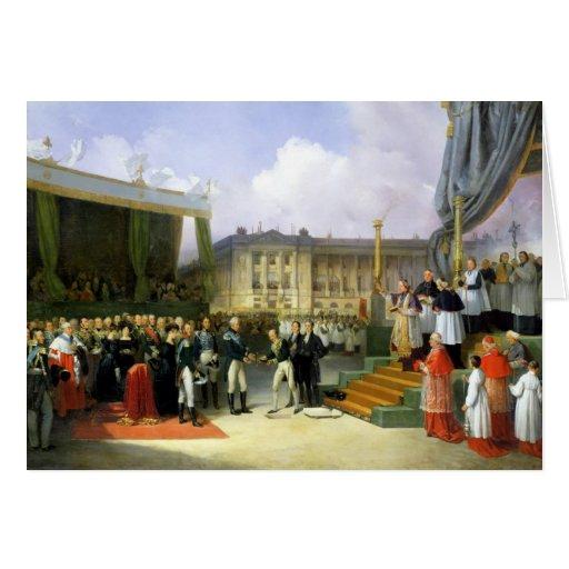 Inauguración de un monumento en la memoria Louis X Felicitación