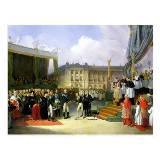 Inauguración de un monumento en la memoria Louis X Postal