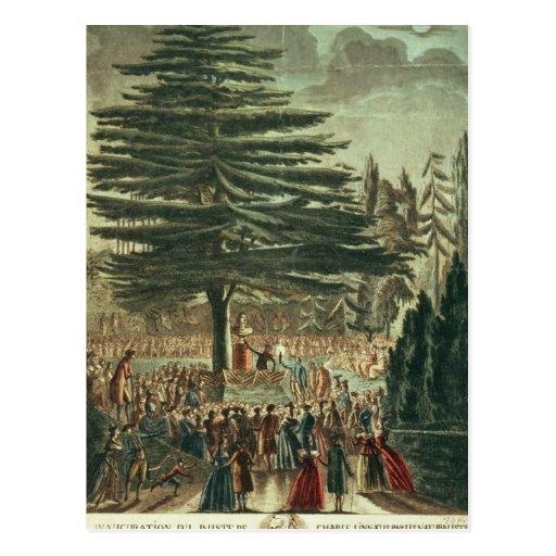 Inauguración del busto de Carl Linnaeus Postales