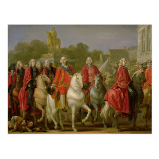 Inauguración del lugar Louis XV Tarjeta Postal