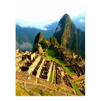 inca de Perú del picchu del machu Postal