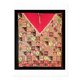"""Inca """"poncho"""", Bolivia, c.1500 (lanas) Postal"""