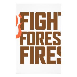 Incendios forestales de la lucha papelería