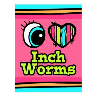 Inchworms brillantes del amor del corazón I del Postal