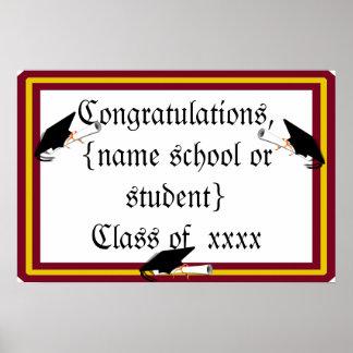 Inclinación del casquillo de la graduación - la póster