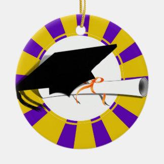 Inclinación del casquillo del graduado con el adorno redondo de cerámica